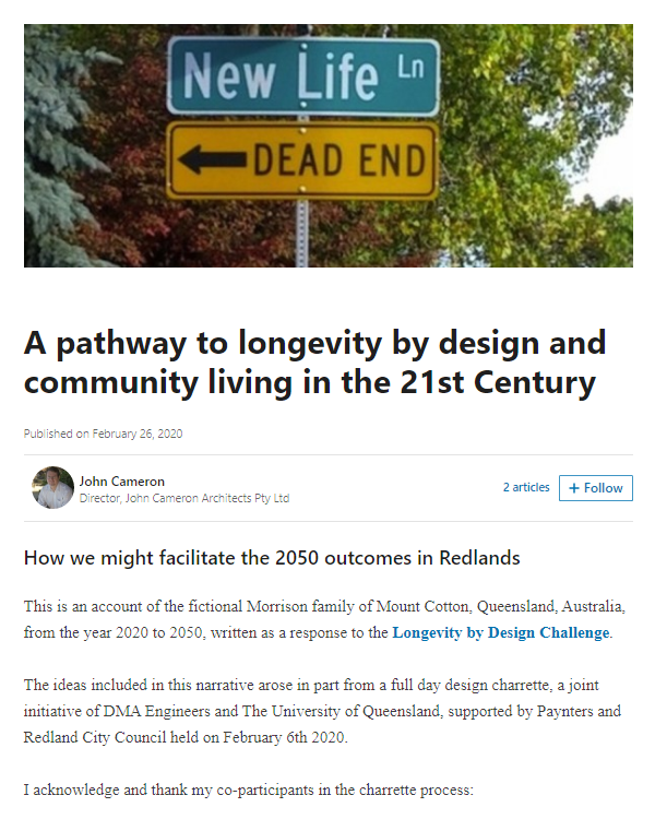 Longevity by Design John Cameron
